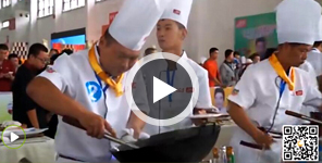 <b>新纪元烹饪学校陈波华山论剑大赛现场</b>