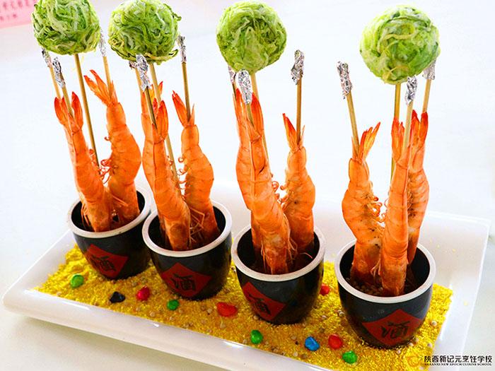 鲜虾蔬菜球